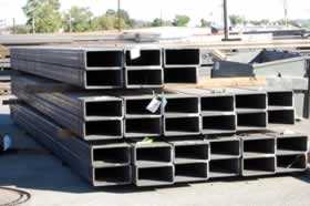 Structural rectangular steel tubing