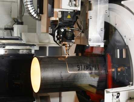 Tube being Cut with Laser