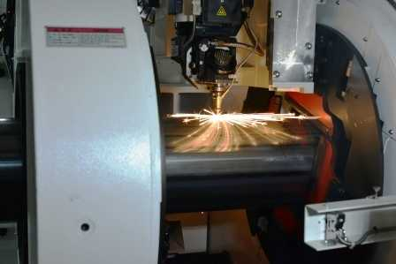 Sparks flying during Laser Cutting