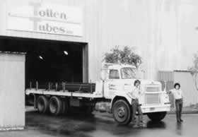 Old Photo of Truck Leaving Totten Facility